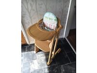 Wooden East Coast Highchair with Dinnertime Seat Insert
