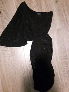 New with Tags- Black one shoulder Coctail dress from Eclipse
