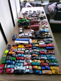 138 die cast and non die cast vechicles including 30 hotwheels cars