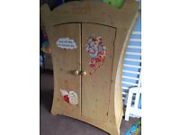 Children's bed and wardrobe and bedside table