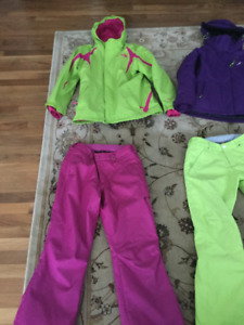 North face,ski jacket,  burton snow pants