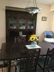 Dining room table with 6chairs and China cabinet for sale