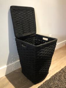 Black Laundry Bin