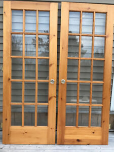 30x80 Solid Wood French Doors
