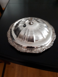 Silver Plated Serving/Relish Dish with Lid