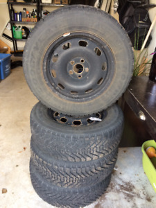 Winter is Coming! Set of 4 Winter Tires and Rims - Great Shape