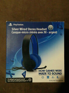 Selling Silver Wire PS3/4 Headset