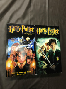 Harry Potter Philosopher's Stone & Chamber Of Secrets! Vhs movie