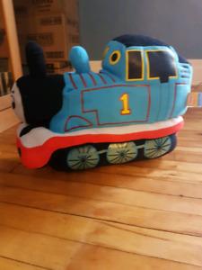 Oreiller et coussin Thomas le train