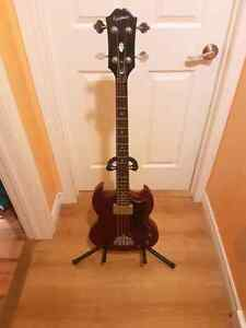 Epiphone Bass Guitar and stand $100 OBO