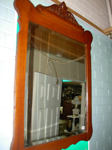 Antique Bevelled Mirror Cambridge Kitchener Area image 1