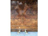John Brinsmead upright walnut case | Belfast Pianos.