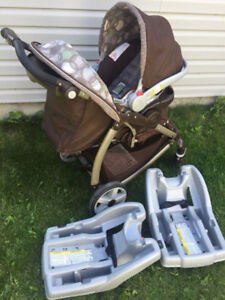 graco stylus stroller and clic connect 35 car seat with base
