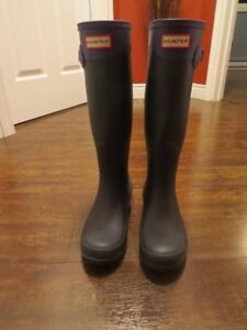 Authentic 2 tone Hunter Boots (like new)