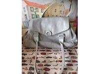 Radley Grey Leather Shoulder Bag