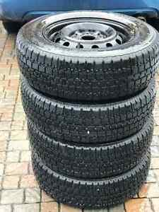 4*195/70R14 - Winter Tires + Rims with GOOD CONDITION! West Island Greater Montréal image 4