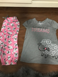 Girls Justice matching PJ's pants and shirt size 16/18