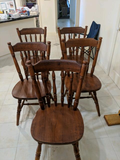 5 Wooden Dining Chairs Dining Chairs Gumtree Australia Morphett