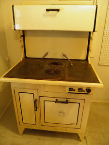 Antique stove, Gas and wood
