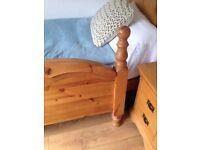 Solid pine kingsize headboard