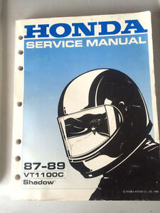 87 88 89 Honda VT1100C Shadow Shop Manual Regina Regina Area image 1