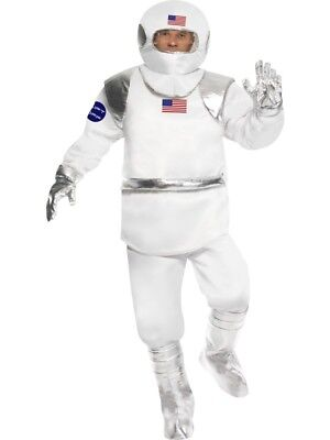 Spaceman Astronaut Space White Adult Mens Smiffys Fancy Dress Costume - Medium ()