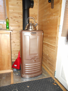 Oil Space Heater c/w outdoor tank...