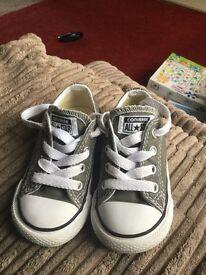 toddler grey All Star converse