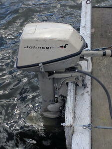 Johnson 6 hp outboard.