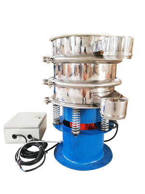 Round Screener Deck Stainless Vibrating Screen 2 Layer Shaker Continuous Feeding