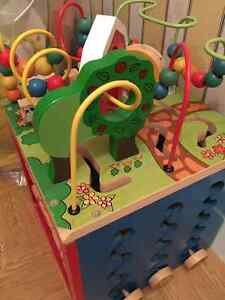 wooden activity cube - in excellent condition