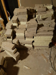 FREE! Fireplace stones, mantle, and hearth