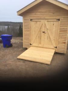 10x12 Baby Barn Solid Hemlock/2 windows/Metal Roof/NEW