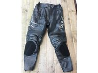 RST LEATHER TROUSERS EX COND 32""