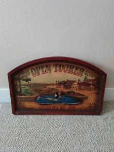 Vintage Wood Automobile Tour Plaque