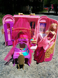 Barbie princess charm school bedroom set and doll