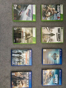 Selling ps4 & xbox 360 games;