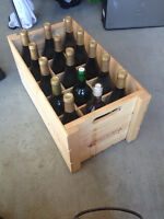 Wine crate and wine bottles