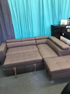Huge sale on  sectional with pull out bed, recliners, sofa sets