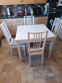 IKEA Extendable table with 4 chairs