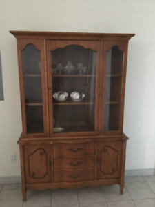 Maple china cabinet