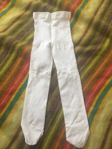 6-12 month white tights