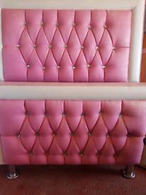 Pink bedstead