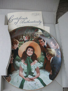 Vintage Gone With The Wind Collectible Plates