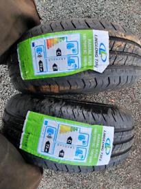 Pair of new 185 70 r13c tyres suit trailer only caravan