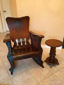 Antique Oak - 7 Spindle Rocking Chair