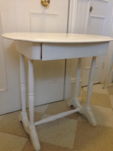 Beautiful Antique  Small Desk or Side Table, Solid Wood with Dra