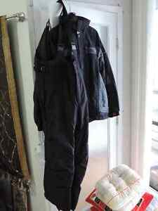 Men's Spyder ski jacket with Columbia pants and gloves