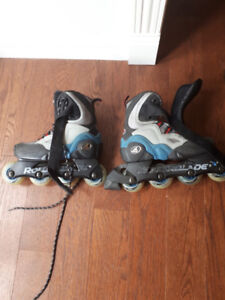 Roller Blades Size 7.5/8.  I bought these for my daughter last C