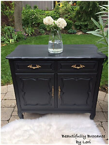 Vintage French Provincial Cabinet by Malcolm Furniture